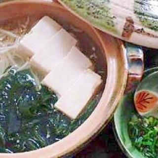 こぶ茶で美味しい湯豆腐