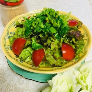 ☆菜の花とトマトのゴマドレサラダ☆