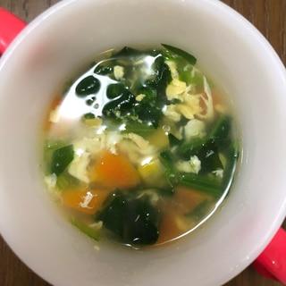 【幼児食】取り分け可能!鶏ガラ中華風スープ