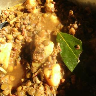 レンズ豆とジャガイモのカレー