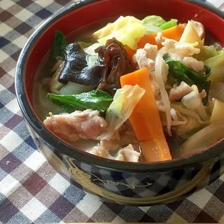 野菜不足解消♫野菜たっぷりタンメン