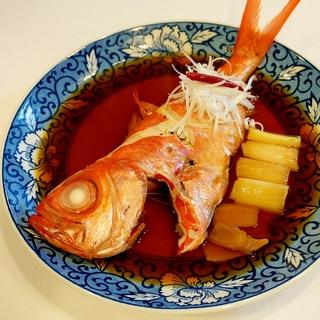 甘辛の煮汁が絡んで至極の味わい!金目鯛の姿煮