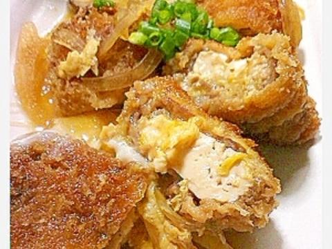 超節約!豆腐入りなのに本物みたい?豚カツ卵とじ