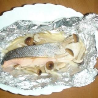 オーブントースターで鮭のホイル焼き
