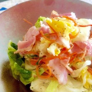 白菜とベーコンの塩蒸し♩(副菜に)