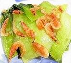チンゲン菜と桜えびの炒め物
