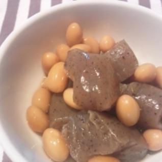 ヘルシーおいしい常備菜★大豆とこんにゃくの煮物