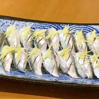 半生が美味い!ママカリで握り寿司♪