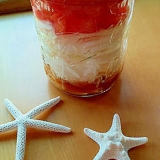 新玉ねぎとトマトサラダ(塩レモンペースト入り)