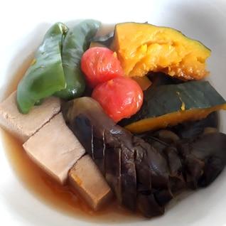 あっさり☆夏野菜と高野豆腐の煮物