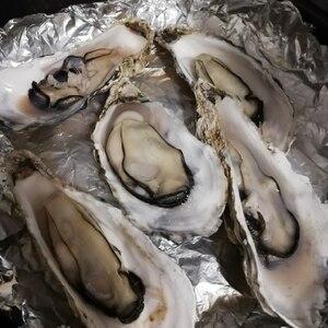 殻付き牡蠣のフライパン酒蒸し