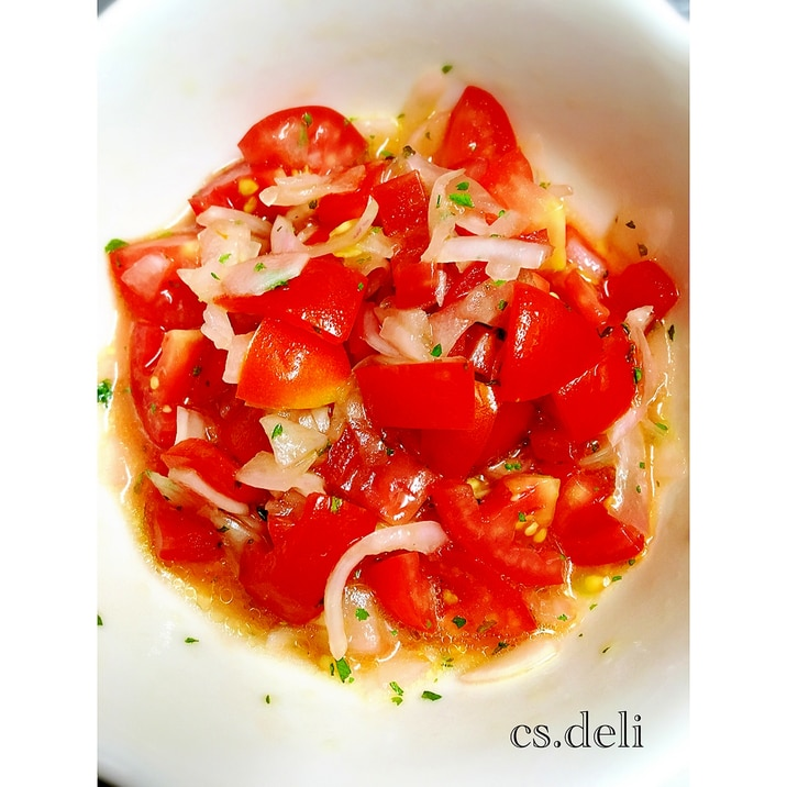 ♡夏にサッパリ♡プチトマトと酢玉ねぎの万能ソース