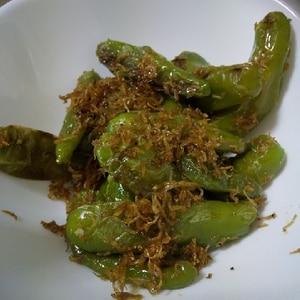 """我が家の常備菜""""ししとうのチリメンジャコ和え"""""""