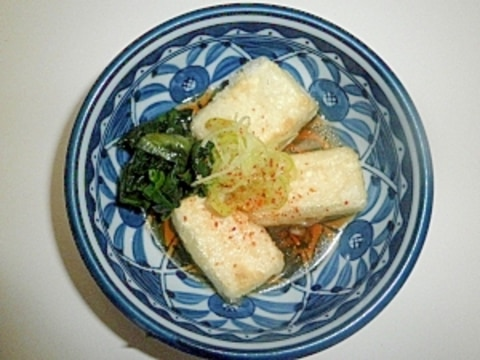 揚げない「揚げだし豆腐」