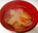 白菜とにんじんのすまし汁