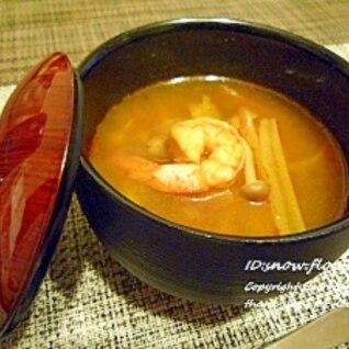 タイの台所で♪トムヤムクン☆