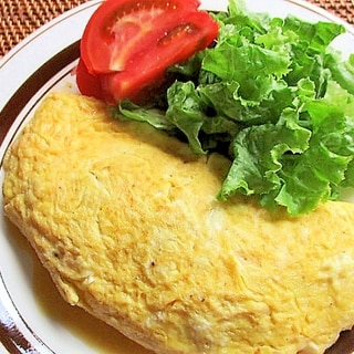 油揚げ入り♪納豆チーズオムレツ