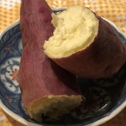 レンジで簡単に焼き芋ができていいですね! また作ります(* ̄▽ ̄*)ノ