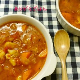 リコピンたっぷり。チキンとトマトの食べるスープ