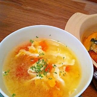 プチトマトとたまごの洋風スープ