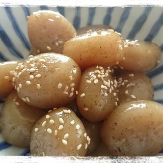 早く味が染み込む生芋玉こんにゃくの煮物