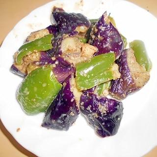 レンジで簡単☆長茄子とピーマンの温サラダ★