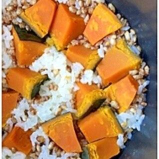 もち麦のかぼちゃご飯