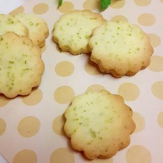 庭のミントで(^^)サクほろミントクッキー♪