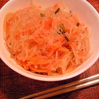 チヂミの具で…お野菜たっぷり簡単チャプチェ