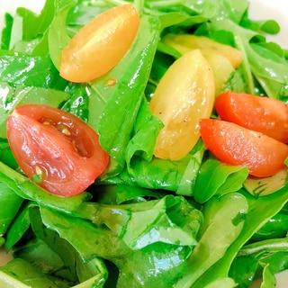 トマトとルッコラのサラダ♪あっという間に完成