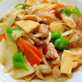 白菜と鶏肉の八宝菜風