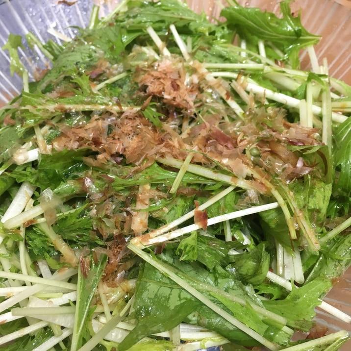 水菜だけの超シンプルサラダ