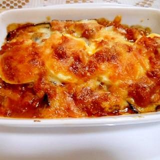 【リメイク】茄子と茹で卵のミートソース焼き