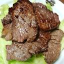 マーマレードジャム入タレがじわっと染み込んだ焼き肉