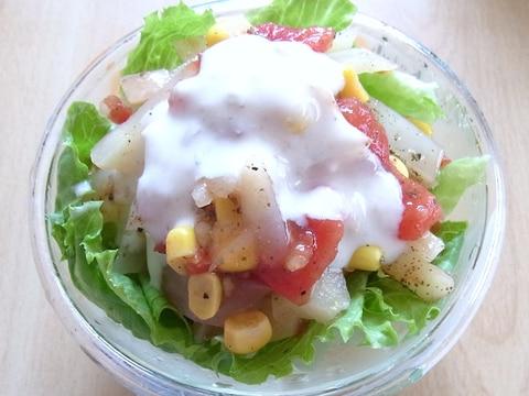 ポテトとトマトのヨーグルトドレッシングサラダ