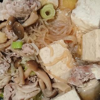 すき焼き風♪豚肉としらたきの肉豆腐