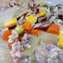 牛肉とミックスベジタブル和風煮込み