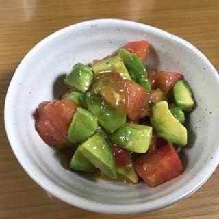 アボガドトマトの和風サラダ