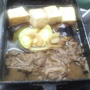 具だくさんの肉豆腐