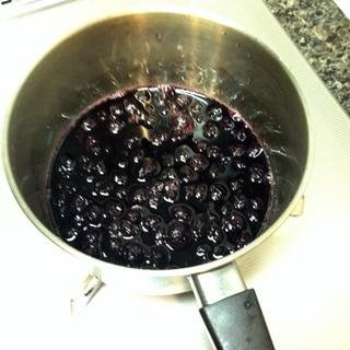 冷凍ブルーベリー de 手作りブルーベリーソース