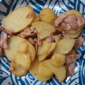 豚肉とじゃがいものガーリック炒め