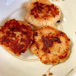 鶏ひき肉で作るツナ入りハンバーグ