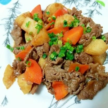 牛肉と長芋のポン酢炒め