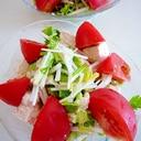 豆腐と水菜とトマトのサラダ♪