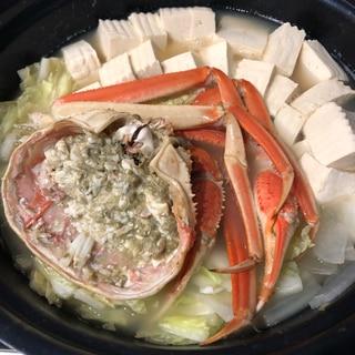シンプルなカニ鍋