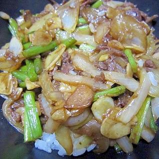 ガッツリ食べよう!ガーリックバタースタミナ焼牛丼