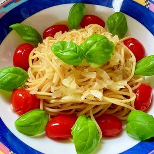 レンジで簡単フレッシュトマトのスパゲッティ(^^♪