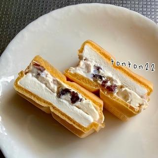 クリームチーズレーズン入りもなかアイスクリーム☆