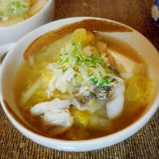 タラと豆腐のスープ