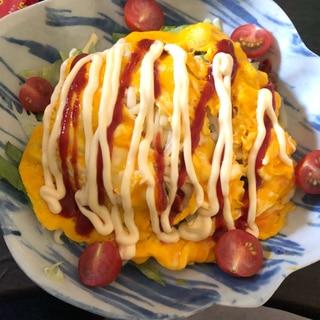 沖縄の味を再現♪簡単!オムタコライス